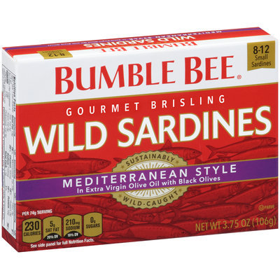 Bumble Bee® Gourmet Brisling Wild Sardines Mediterranean Style 3.75 oz. Box