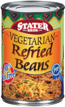 Stater Bros. Vegetarian Refried Beans 16 Oz Can