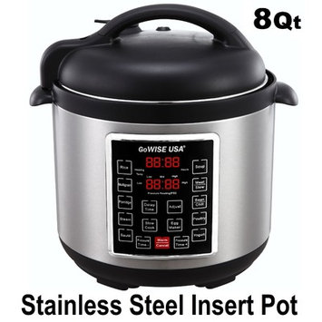 Gowise Usa 8-Quart 4th Generation Pressure Cooker/Slow Cooker