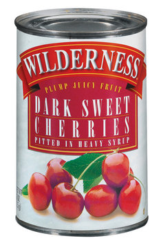 Wilderness Dark Sweet In Heavy Syrup Pitted Cherries 15 Oz Can