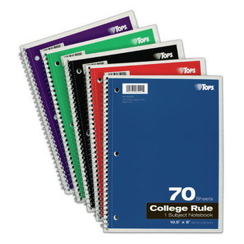 TOPS BUSINESS FORMS Tops College Notebook