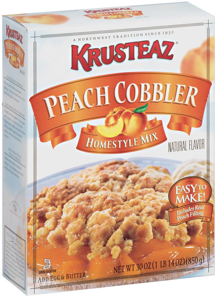 Krusteaz® Peach Cobbler Homestyle Mix