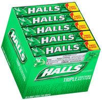 Halls® Spearmint Cough Suppressant/Oral Anesthetic Menthol Drops 20-9 Piece Packs