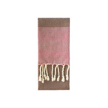 Nine Space Aegean Hand Towel, 31 x 15, Chocolate, 1 ea