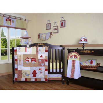 Geenny Boutique Fire Truck 12 Piece Crib Bedding Set