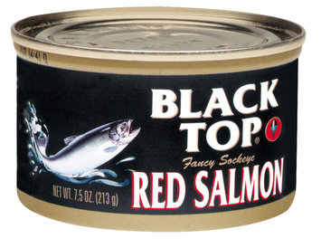 Black Top Fancy Sockeye Red Salmon 7.5 Oz Can