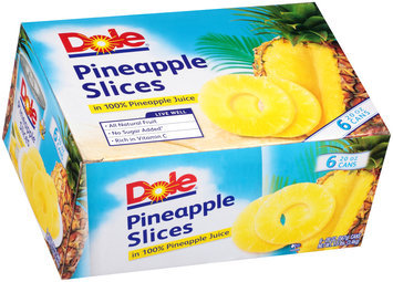 Dole® Pineapple Slices 6-20 oz. Cans