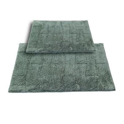 Textile Decor Castle 2 Piece 100% Cotton New Tile Spray Latex Bath Rug Set, 24 H X 17 W and 30 H X 20 W, Green