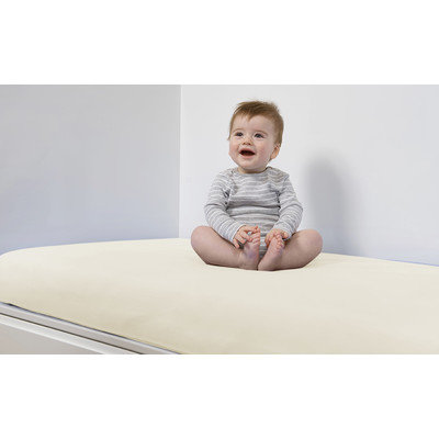 B.sensible Baby Crib Sheet Color: Ivory