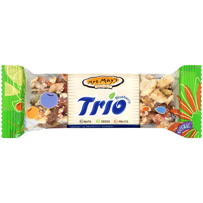 Mrs. May's® Naturals Trio Blueberry Snack Bar 1.2 oz. Wrapper