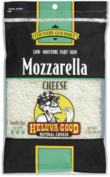 HELUVA GOOD Low-Moisture Part-Skim Mozzarella Country Gourmet Shredded Cheese