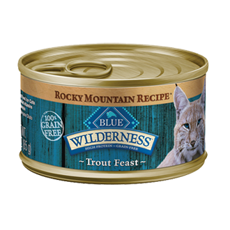 THE BLUE BUFFALO CO. BLUE™ Wilderness® Rocky Mountain Recipe™ Trout Feast For Adult Cats