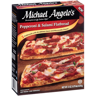 Michael Angelo's® Pepperoni & Salami Flatbread 12 oz. Box
