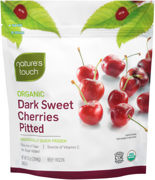 Nature's Touch™ Organic Dark Sweet Cherries Pitted 10 oz. Stand-Up Bag