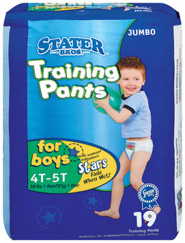 Stater Bros. Boys 4t to 5t 38 Lbs & Over Jumbo Pack Training Pants 19 Ct Bag