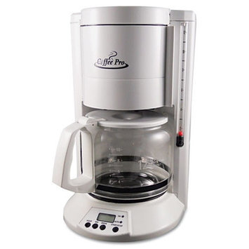 Originalgourmetfoodco Coffee Pro Home/Office 12-Cup Coffee Maker - Color: White