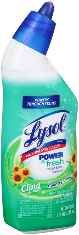Lysol® Power & Fresh Cling Gel Country Scent® Toilet Bowl Cleaner 8 fl. oz. Bottle