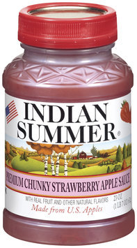 Indian Summer Chunky Strawberry Apple Sauce 23 Oz Plastic Jar