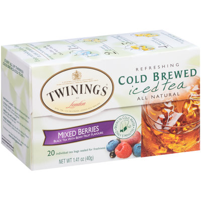 Twinings of London Mixed Berries Refreshing Cold Brewed Iced Tea Tea Bags 20 Ct Box