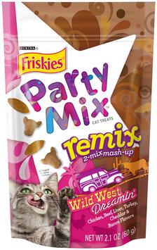 Purina Friskies Party Mix Remix Wild West Dreamin' Cat Treats 2.1 oz. Pouch