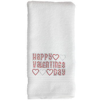 Sparkles Home Valentine's Day Washcloth Color: White