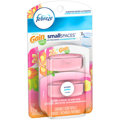 Small Spaces Febreze Small Spaces with Gain Island Fresh Scent Refills Air Freshener (2 Count, 11 mL)