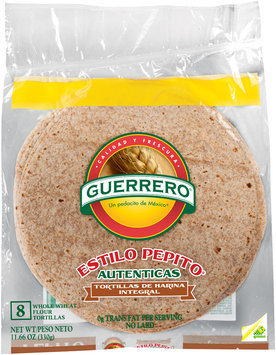 Guerrero® Estilo Pepito® Whole Wheat Flour Tortillas 8 ct Bag