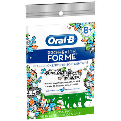 Oral-B Pro-Health For Me Minty Breeze Flavor Floss Picks 45 ct Pouch