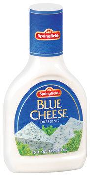 Springfield Blue Cheese Dressing 16 Oz Plastic Bottle