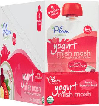 Plum Organics® Tots Mish Mash™ Yogurt Berry Banana Beet Smoothie 6 ct Pouches
