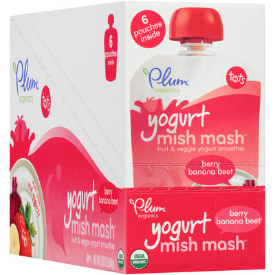 Plum Organics® Tots Mish Mash™ Yogurt Berry Banana Beet Smoothie 6 ct Pouches
