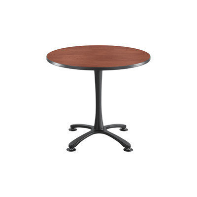 Safco(R) Cha-Cha X-Base Sitting-Height Table, 29in.H x 36in.W x 36in.D, Cherry/Silver
