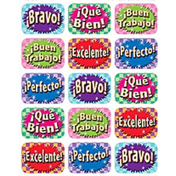 Teacher Created Resources Tcr5734 Good Work Spanish 90 Jumbo Stickers