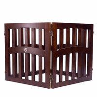 Elegant Home Fashion Keno 4-Panel Convertible Dog Gate Size: Large