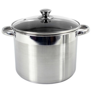 M.e. Heuck Co. Heuck Stainless Steel Stockpot with Glass Lid 16 qt