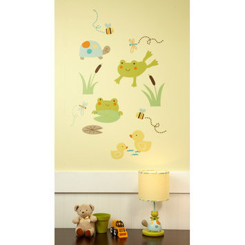 Crown Craft Carter's Pond Collection Wall Decals (Green)