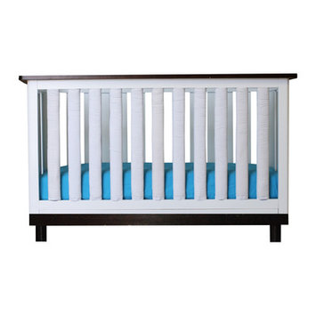 Go Mama Go Cotton Couture Crib Bedding Set Size: 38 Pack, Color: Turquoise / White