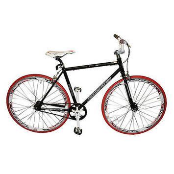 Micargi City Bike Tire Color: Red/Black, Frame Color: Matte Black