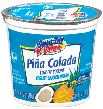 Special Value Pina Colada Low Fat Yogurt 6 Oz Cup