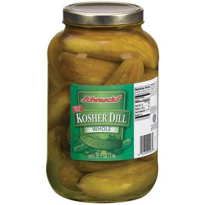 Schnucks Kosher Dill Whole Pickles 128 Fl Oz Jar