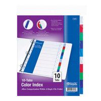 Bazic 3107-24 3-Ring Binder Dividers with 10-Color Tabs