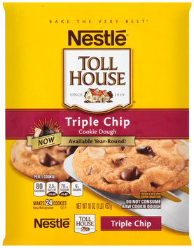 Nestlé TOLL HOUSE Triple Chip Cookie Dough 16 oz. Bar
