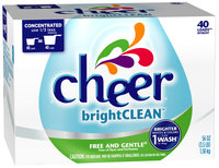 Cheer brightCLEAN Free and Gentle Powder Laundry Detergent 56 oz. Box