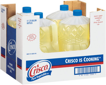 Crisco Pure All Natural 1.25 Gal Plastic Jugs Vegetable Oil 4 Ct Tray