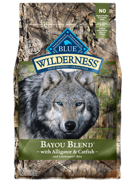 THE BLUE BUFFALO CO. BLUE™ Wilderness® Bayou Blend™ with Alligator & Catfish Grain-Free Dry Dog Food