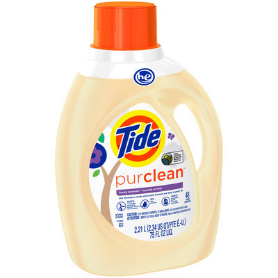 Tide PurClean Liquid Laundry Detergent For Regular and HE Washers, Honey Lavender Scent, 2.21 L, 48 loads
