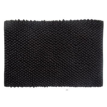Better Trends Chenille Rock Bath Mat Color: Black