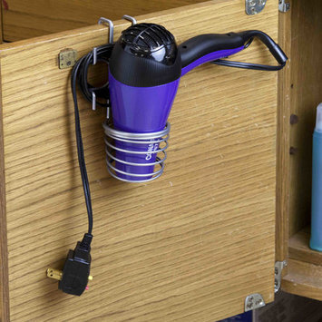 HDS Trading HH41081 Over The Cabinet Hairdryer Holder