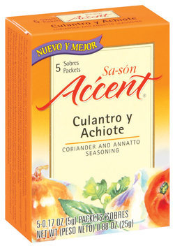 Accent Sa-Son Coriander & Annatto 0.17 Oz Packets Seasoning 5 Ct Box