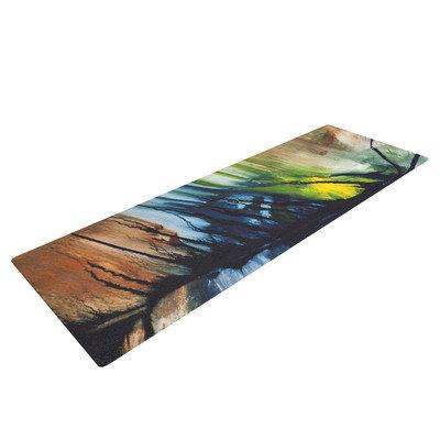 Kess Inhouse Gravity Falling by Steve Dix Yoga Mat